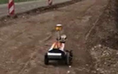 Robot Plotter von Rasenberg Infra im Einsatz auf der Trümmerbahn