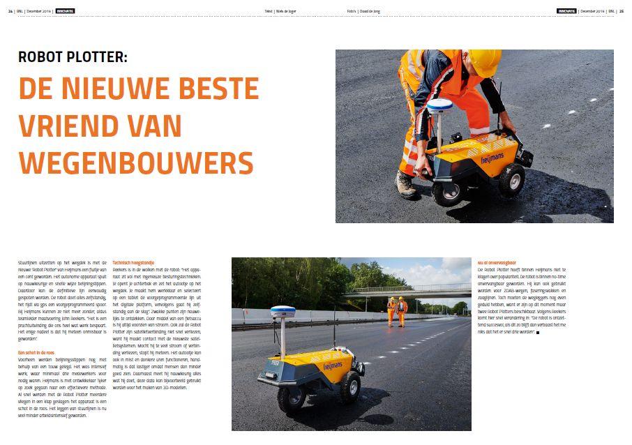 Publication Robot Plotter in BNL-member magazine